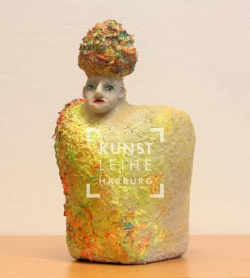 Ulrike Hinrichs_Sehnsucht mit Turban, Skulptur, 39Hx29Bx35T